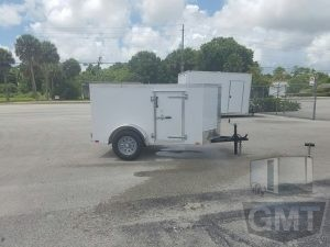 4 x 8 Single Axle Enclosed Trailer Standard Image