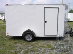 7 x 12 Single Axle Enclosed Trailer Standard Image