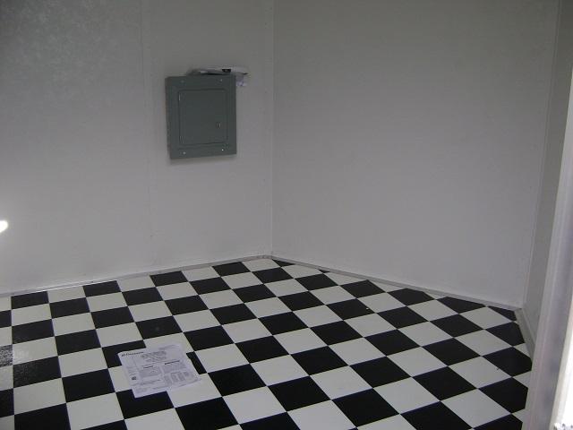 Interior upgrades georgia made trailers interior for Black and white check floor