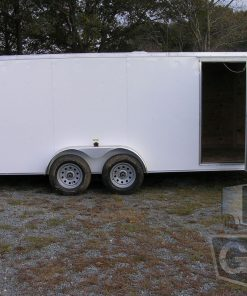 7 wide tandem axle enclosed trailers