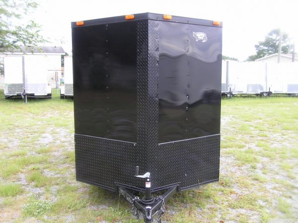 6x10 SA Trailer - Black, Ramp, Side Door, Extra Height, Blackout Package