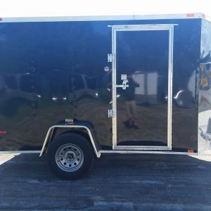 6x10 SA Trailer - Black, Ramp, Side Door, Extra Height