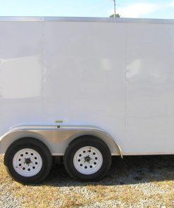 6x12 TA Trailer - White, Ramp, Side Door, Extra Height, E-Track