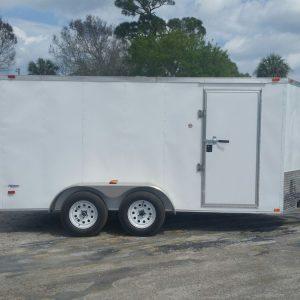 6x14 TA Trailer - White, Ramp, Side Door, Extra Height