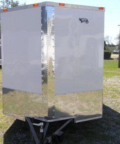 7x12 SA Trailer - White, Ramp, Side Door, Many Upgrades