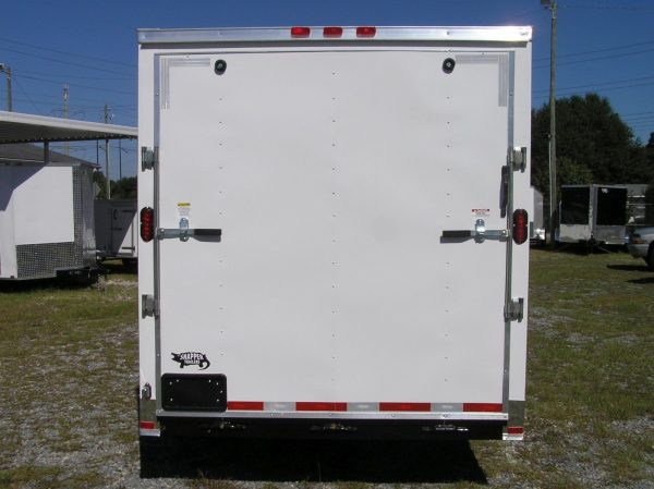 7x12 SA Trailer - White, Ramp, Side Door, Many Upgrades