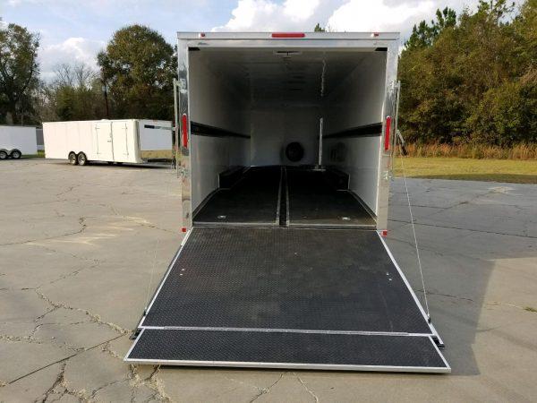 8.5x34 TTA Trailer - Black, Ramp, Side Door, 5K Axles, D-Rings, E-Track, Metal Walls and Ceiling, Floor Liner, Mags