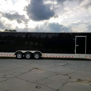 8.5x34 TTA Trailer - Black, Ramp, Side Door, 5K Axles, D-Rings, E-Track, Metal Walls and Ceiling, Floor Liner, Mags