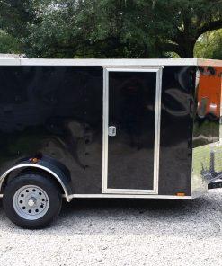 5x10 SA Trailer - Black, Ramp, Side Door, Side Vents