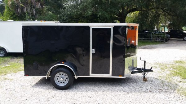 5x10 SA Trailer - Black, Ramp, Side Door, Side Vents