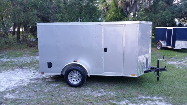 5x10 SA Trailer - Silver Frost, Ramp, Side Door, Side Vents