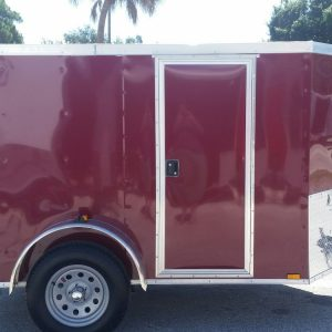 5x8 SA Trailer - Brandywine, Ramp, Side Door, Side Vents