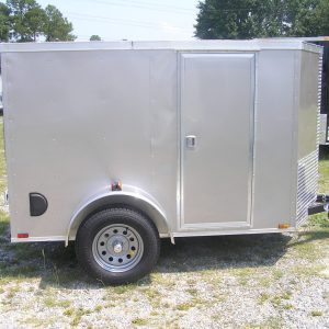 5x8 SA Trailer - Champagne, Double Doors, Side Door, Side Vents