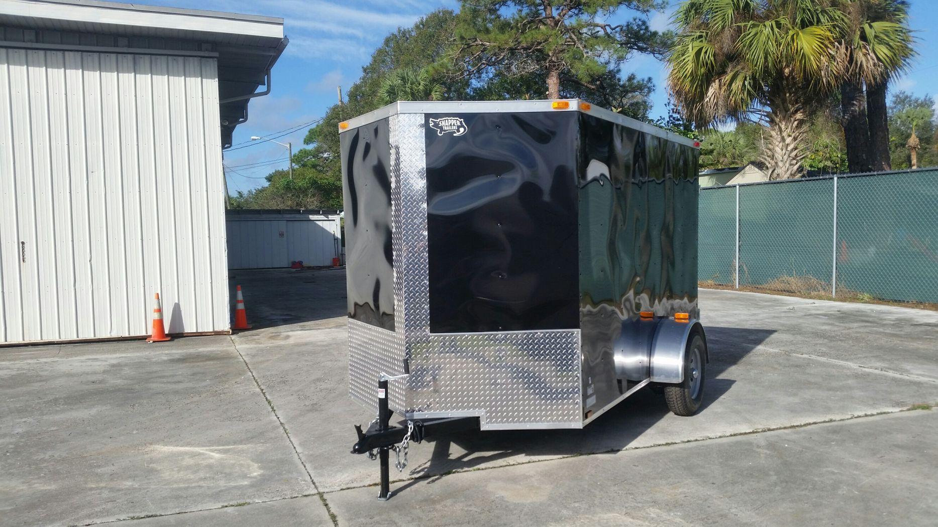 6x10 SA Trailer - Black, Double Barn Doors, Side Door ...