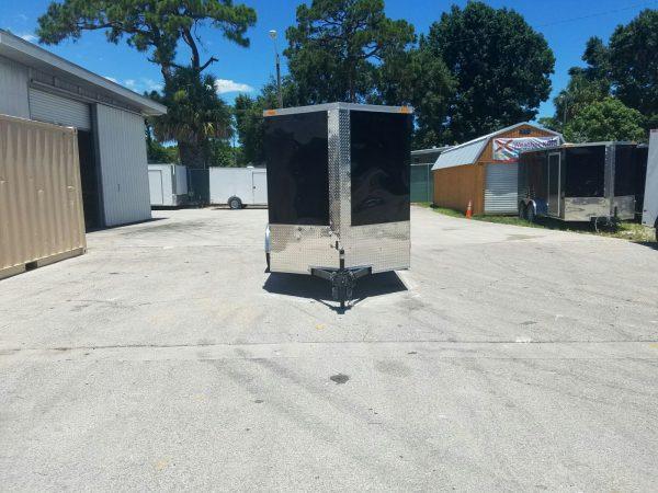6x10 SA Trailer - Black, Double Barn Doors, Side Door, Extra Height