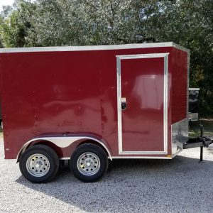 6x10 TA Trailer - Brandywine, Ramp, Side Door, Extra Height