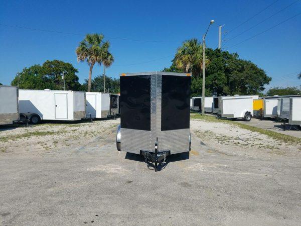 6x10 TA Trailer - Black, Double Abrn Doors, Side Door, Extra Height