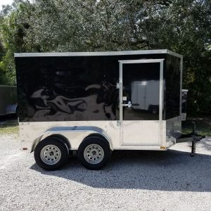 6x10 TA Trailer - Black, Ramp, Side Door, Extra Height