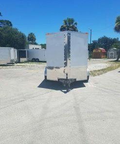 6x10 TA Trailer - White, Ramp, Side Door, Extra Height