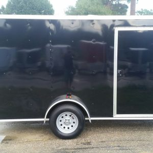 6x12 SA Trailer - Black, Ramp, Side Door, Extra Height