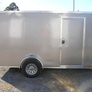 6x12 SA Trailer - Pewter, Ramp, Side Door, Extra Height