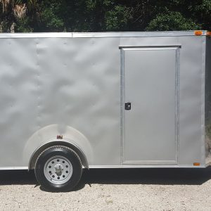 6x12 SA Trailer - Silver Frost, Ramp, Side Door, Extra Height
