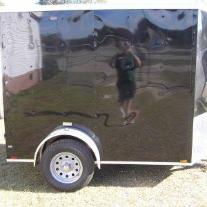 6x8 SA Trailer - Black, Double Barn Doors, Extra Height