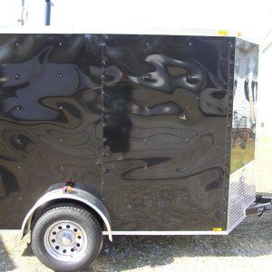 6x8 SA Trailer - Black, Ramp, Extra Height