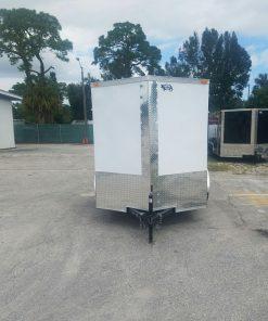 6x8 SA Trailer - White, Ramp, Extra Height