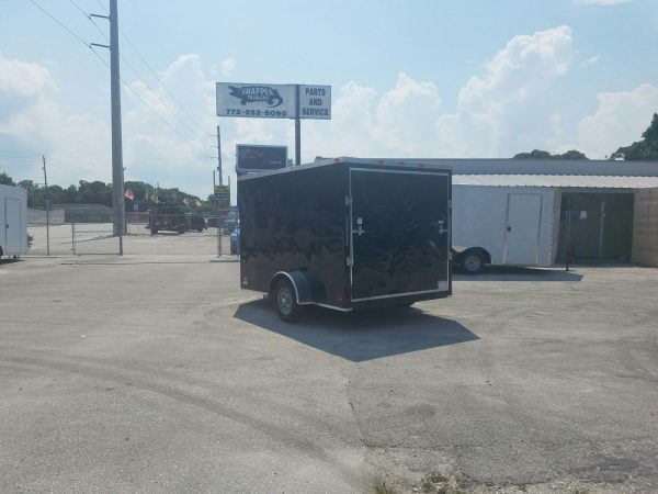 7x10 SA Trailer - Black, Ramp, Side Door, Extra Height, and Electric Brakes
