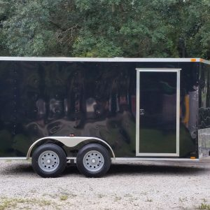 7x14 TA Trailer - Black, Ramp, Side Door, Extra Height
