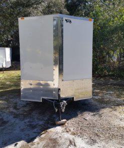 7x14 TA Trailer - White, Ramp, Side Door, Extra Height, ATP Wrap
