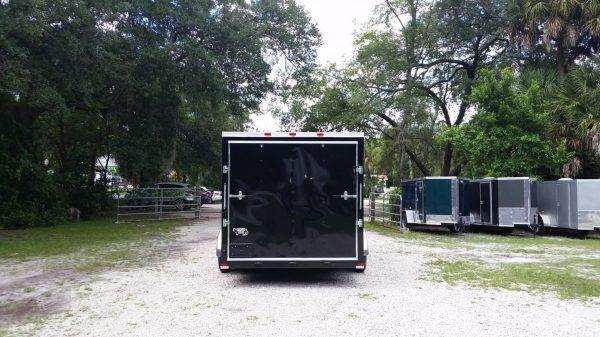 7x16 TA Trailer - Black, Ramp, Side Door, Extra Height