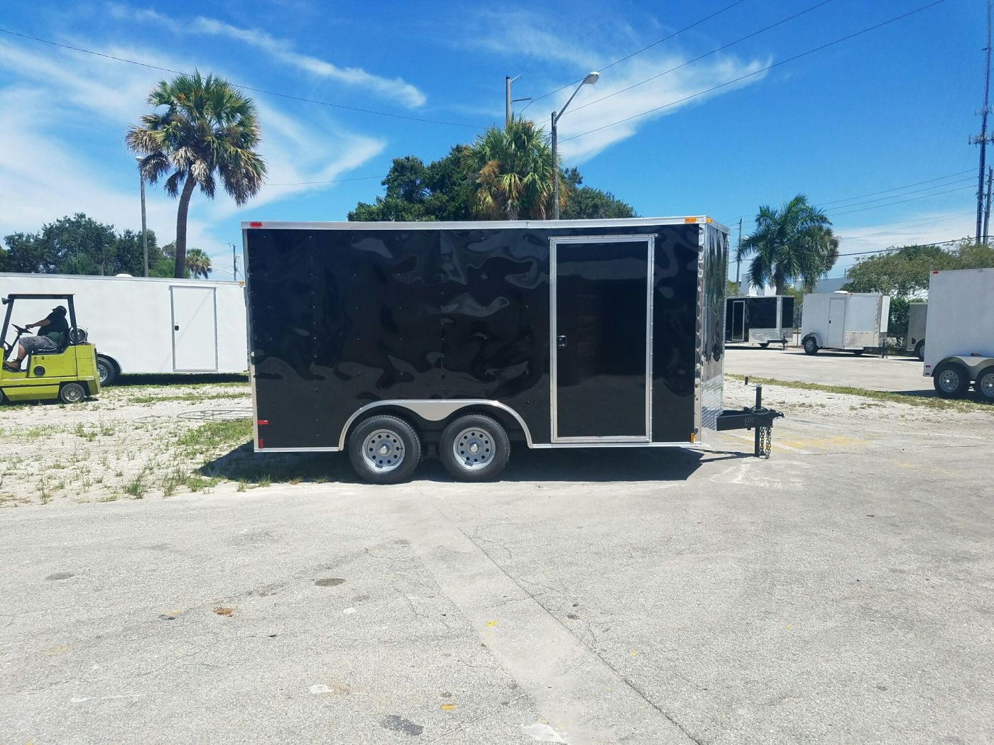 D And D Trailers >> 8 5x14 Ta Trailer Black Ramp Side Door And D Rings