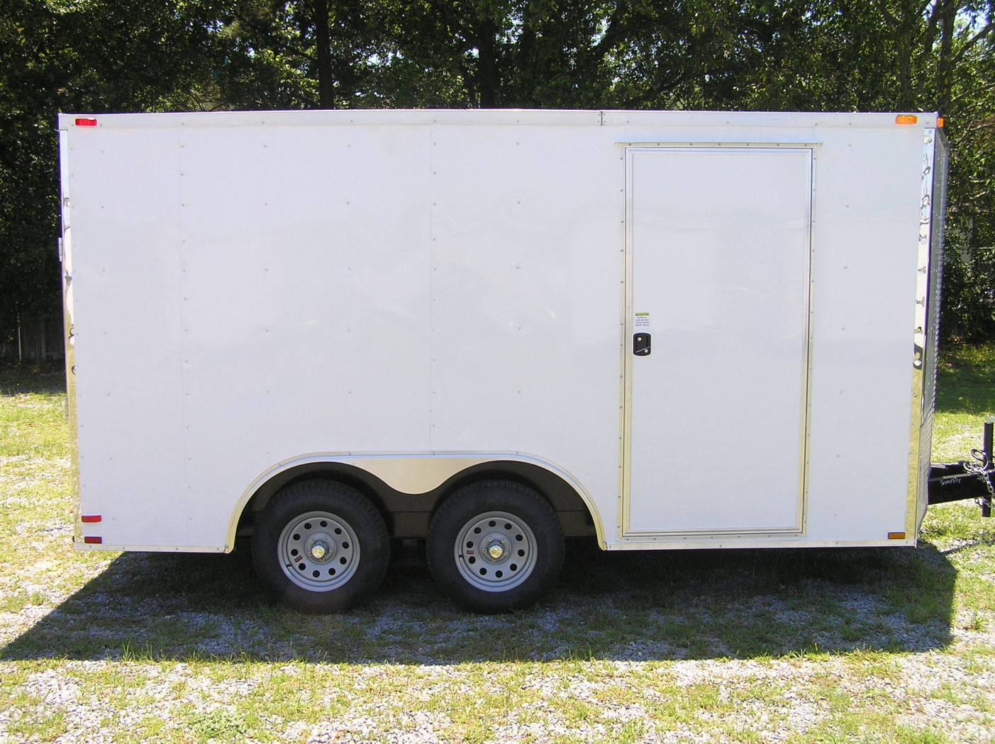 D And D Trailers >> 8 5x14 Ta Trailer White Ramp Side Door And D Rings