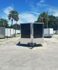 8.5x16 TA Trailer - Black, Ramp, Side Door, and D-Rings