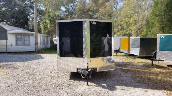 8.5x18 TA Trailer - Black, Ramp, Side Door, and D-Rings