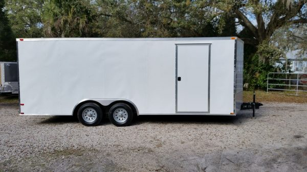 D And D Trailers >> 8 5x20 Ta Trailer White Ramp Side Door And D Rings Georgia