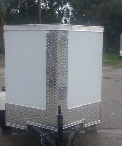 4x6 SA Trailer - White, Single Door