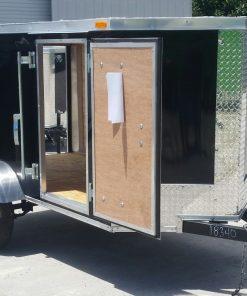 4x8 SA Trailer - Black, Single Door, Side Door