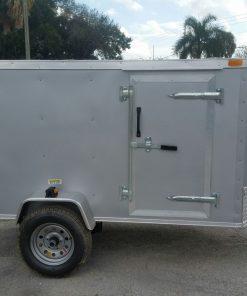 4x8 SA Trailer - Silver Frost, Single Door, Side Door