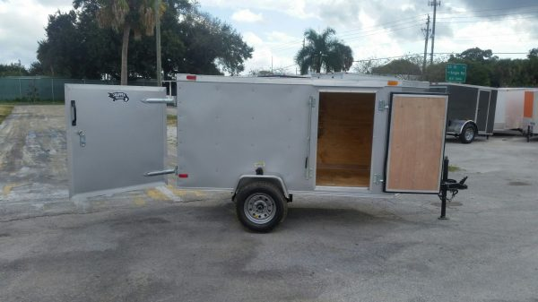 4x8 SA Trailer - Silver Frost, Single Door, Side Door
