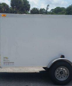4x8 SA Trailer - White, Single Door, Side Door, Radial Tires