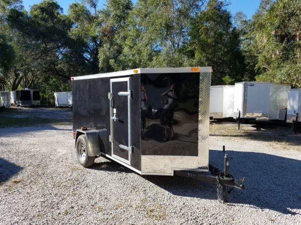5x10 SA Trailer - Black, Double Doors, Side Door