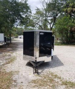 5x10 SA Trailer - Black, Double Doors