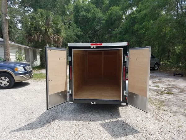 5x10 SA Trailer - Black, Double Doors