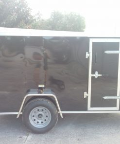5x10 SA Trailer - Black, Ramp, Side Door