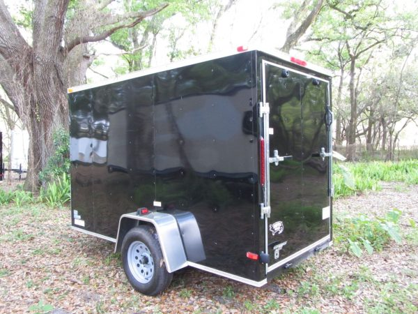 5x10 SA Trailer - Black, Ramp, Side Door, Extra Height