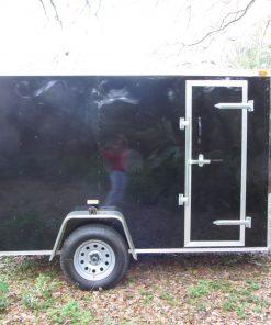 5x10 SA Trailer - Black, Ramp, Side Door, Extra Height