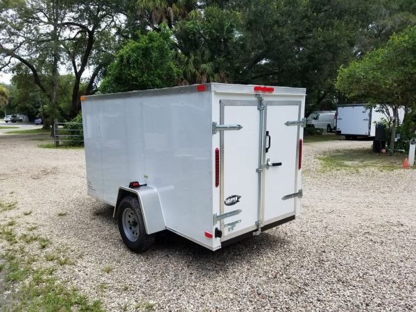 5x10 SA Trailer - White, Double Doors, No Side Door